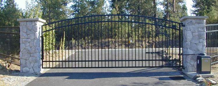 Automatic Single Swing Drive Gates Ornamental Iron Gallery 1