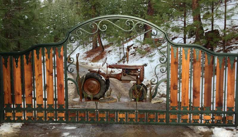 Ornamental Gate Fence Powder Coated Steel Wrought Iron