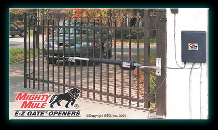 Ornamental Gate and Fence services GTO Mighty Mule Gate operators