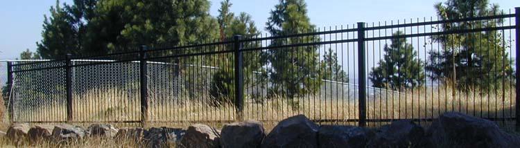 Fences ornamental decorative iron steel powder coated