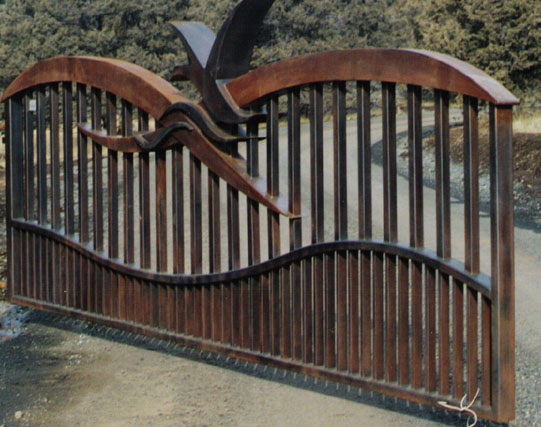 Automatic single swing drive gates ornamental iron gallery 1 for Single wooden driveway gates