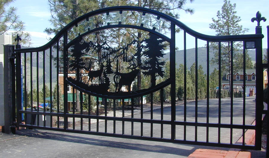 Automatic single swing drive gates ornamental iron gallery 4