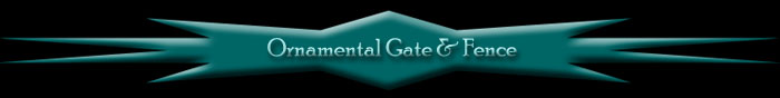 Thank you for visiting our site.  Ornamental Gate & Fence designs, manufactures, installs and services custom ornamental iron gates, operators and security.