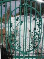 Artistic Floral Work Enhanced The Beauty Of This Walk Gate