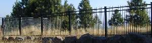 Black Powder Coated Fence With Solid Steel Pickets