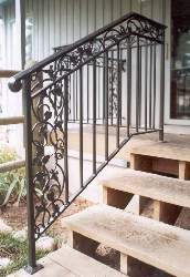 Black Powder Coated Stairway Railing